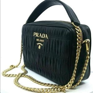 Prada Bandoliera Nappa Quilted Leather Handbag
